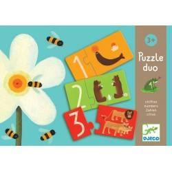 DJECO puzzles « PUZZLE DUO chiffres » 24 PCs, age 3 + Dj08151