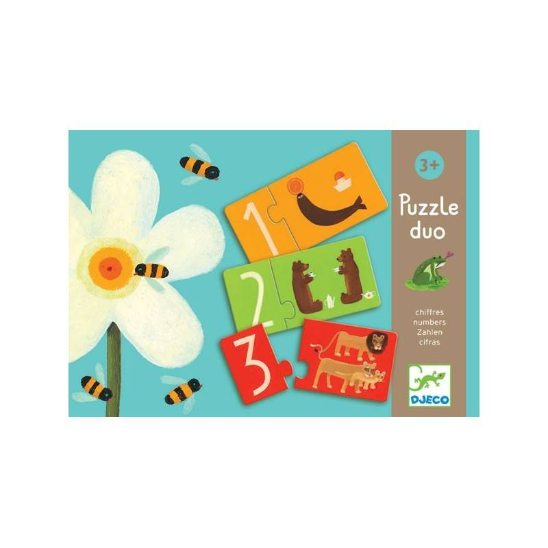 """DJECO puzzles """"DUO PUZZLE numbers"""" 24 PCs, age 3 + Dj08151"""