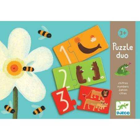 "Puzzle DJECO ""PUZZLE DUO NUMERI"" 24 pz, età 3+ Dj08151"