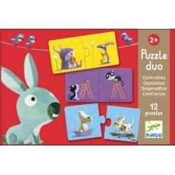 "DJECO Puzzle ""PUZZLE DUO gegen"" 24 Stück, 2 Jahre + Dj08162"