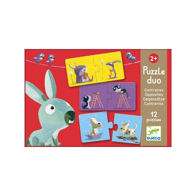 DJECO Puzzle « PUZZLE DUO contre » 24 PCs, 2 ans + Dj08162