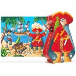 Puzzle pirate and his treasure 36 PCs, age 4 + DJ07220