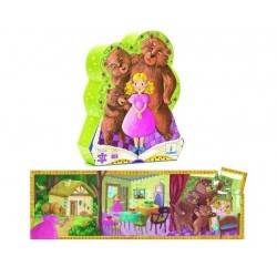 "Puzzle ""Goldilocks and the three bears"" 24 PCs, age 3 + DJ07211"
