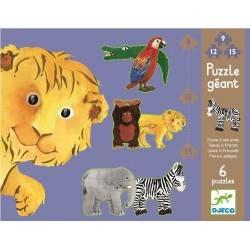 Géante Puzzle lion et ses amis, age 3 + DJ07110