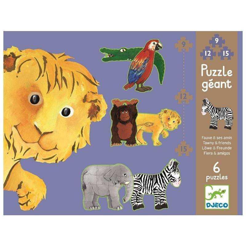 Riesen Puzzle Löwe und seine Freunde im Alter von 3 + DJ07110