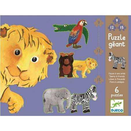 Puzzle Gigante LEONE E I SUOI AMICI, età 3+ DJ07110