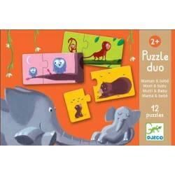Morceaux de PUZZLE 24 DUO maman bébé, age 3 + Dj08157