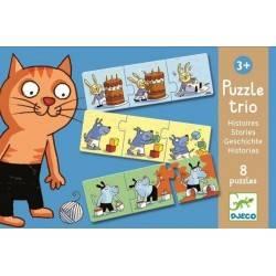 TRIO 24 PCs histoires PUZZLE, âge 3 + Dj08153