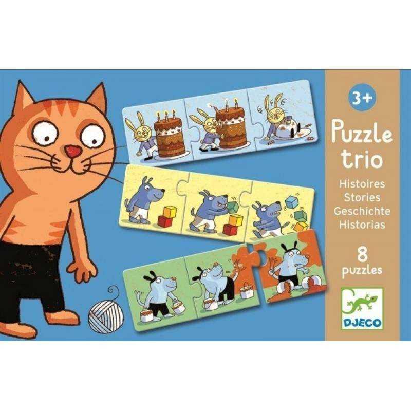 TRIO 24 Geschichten PUZZLE-Stück, 3 Jahre + Dj08153