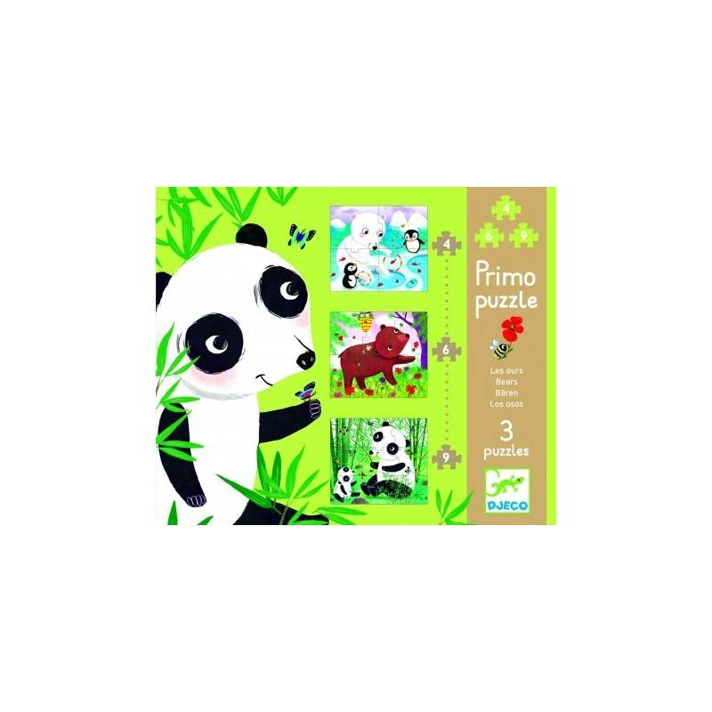 FIRST PUZZLE PUZZLE 3-SEVERAL BEARS, age 2 + Dj07139