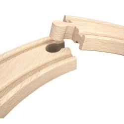 SEGNALI FERROVIARI meccanici TRENO in legno HAPE trenino E3719 magnetico 14 PEZZI età 3+