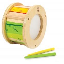 PICCOLO BATTERISTA little drummer CON BACCHETTE trumento musicale HAPE in legno MUSICA tamburo E8167 12 mesi +