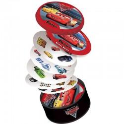 DOBBLE CARS 3 carte circolari RIFLESSI 5 giochi in 1 ASMODEE abilità DISNEY Pixar 31 SIMBOLI età 4+