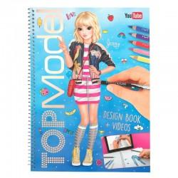ALBUM design book + videos TOP MODEL con bonus code KIT artistico creativo DA COLORARE