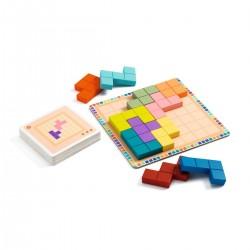 POLYSSIMO gioco DJECO in legno PAZIENZA 30 schede DJ08451 rompicapo SOLITARIO età 7+