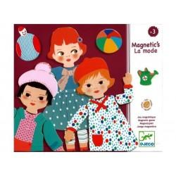 LA MODA gioco magnetico DJECO magnetic's IN LEGNO 30 pezzi DJ03121 età 3+