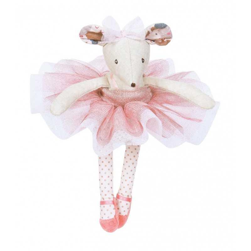 TOPO ballerina CON TUTU in scatola PELUCHE Moulin Roty PUPAZZO