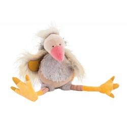 GUS avvoltoio MOULIN ROTY peluche BAZAR pupazzo GRIGIO morbido EFFETTO PIUMATO 10 mesi +