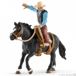 SET CAVALLO DA RODEO CON COWBOY kit da gioco FARM WORLD Schleich 41416 miniature in resina 3+