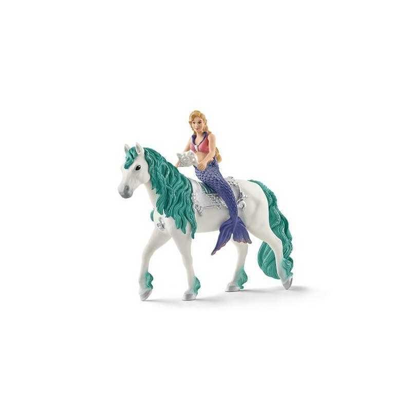 GABRIELLA miniature in resina BAYALA gioco SIRENA A CAVALLO Schleich 70558 MERMAID età 3+