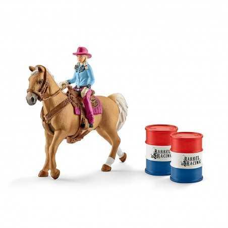 SET CAVALLO DA RODEO CON COWGIRL kit da gioco FARM WORLD Schleich 41417 miniature in resina 3+