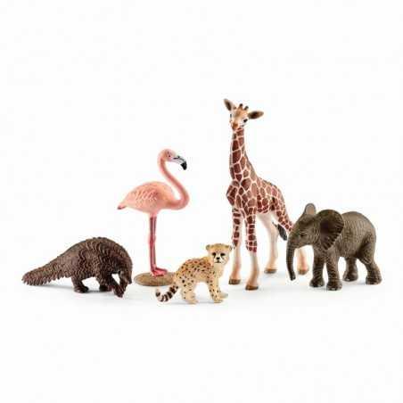 ANIMALI DELLA SAVANA miniature in resina WILD LIFE gioco SAFARI Schleich 42388 età 3+