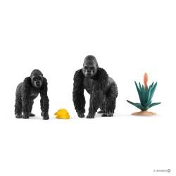 GORILLA IN CERCA DI CIBO miniature in resina WILD LIFE animali JUNGLE Schleich 42382 età 3+