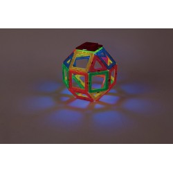 MAGFORMERS Neon Led Set 31 PEZZI creator COSTRUZIONI magnetiche 3D età 3+ luminose