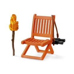SET ATTREZZATURA CUSTODE Schleich DIORAMA kit da gioco WILD LIFE stazione 42356 miniature animali in resina