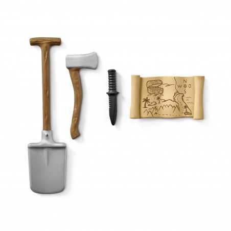 SET ATTREZZI RANGER Schleich DIORAMA kit da gioco WILD LIFE jungle 42354 miniature animali in resina