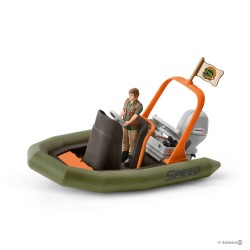 Set GOMMONE CON RANGER Schleich DIORAMA kit da gioco WILD LIFE jungle 42352 miniature in resina 5+
