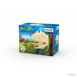 Set GRANDE TRAPPOLA TESCHIO CON VELOCIRAPTOR Schleich DIORAMA kit da gioco DINOSAURS dinosauri 42348 miniature in resina 5+
