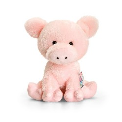 PELUCHE MAIALE 14 cm Pippins Keel Toys CLASSICO pupazzo PIG plush