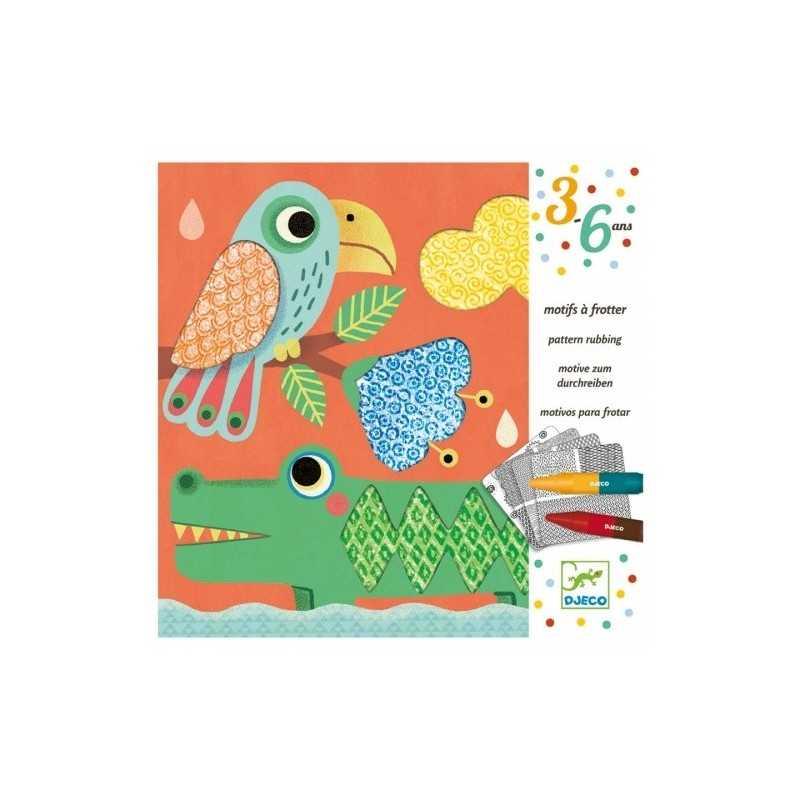 FROTTAGE amici di Magali MOTIVI DA SFREGARE kit artistico TEXTURE Djeco DJ08988 texture 4 TAVOLE età 3+