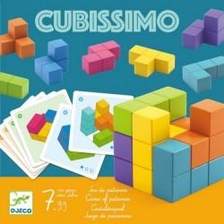 CUBISSIMO gioco DJECO in legno ROMPICAPO 30 schede DJ08477 logica SOLITARIO età 7+