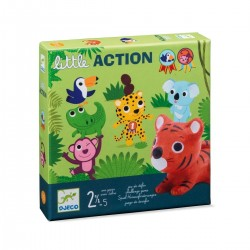LITTLE ACTION primo gioco di società DJECO animali DJ08557 sfide PER I PIU' PICCOLI età 2+