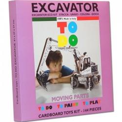ESCAVATORE To Do EXCAVATOR in cartone DA MONTARE e colorare 144 PEZZI kit MADE IN ITALY 6+