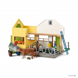 Set VITA IN FATTORIA kit gioco SCHLEICH cavalli in resina HORSE CLUB 42394 con stalla e accessori 5+