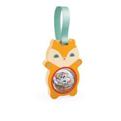 PITINUT sonaglio SCOIATTOLO gioco IN LEGNO scoiattolino DJ06456 con palla rotante DJECO età 3 mesi +