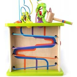 CUBO GIOCO CON ANIMALI sensoriale in legno multi attività per bambini da 1 anno Hape E1810