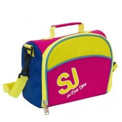 LUNCH BOX bag SJ GANG sj active time GIRL rosa giallo blu SEVEN tracolla INTERNO RIVESTITO