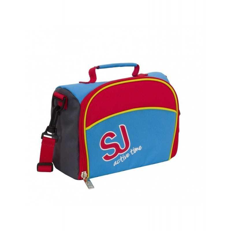 LUNCH BOX bag SJ GANG sj active time BOY rosso azzurro SEVEN tracolla INTERNO RIVESTITO