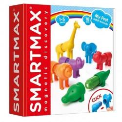 SMARTMAX my first safari animals gioco magnetico costruzioni gomma per bimbi da 1 anno 18 pezzi