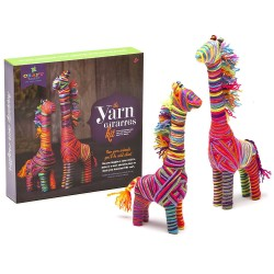 GIRAFFE IN FILO kit creativo YARN GIRAFFES Craft Tastic gioco da 6 anni