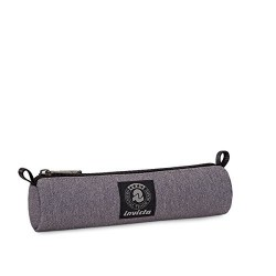 LOOP PENCIL BAG Invicta Office PORTAPENNE con zip ASTUCCIO cilindrico GRIGIO tombolino ASTUCCIO