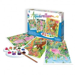 AQUARELLUM SentoSphere ANIMALI AMAZZONIA kit creativo artistico da 8 anni con colori e pennello