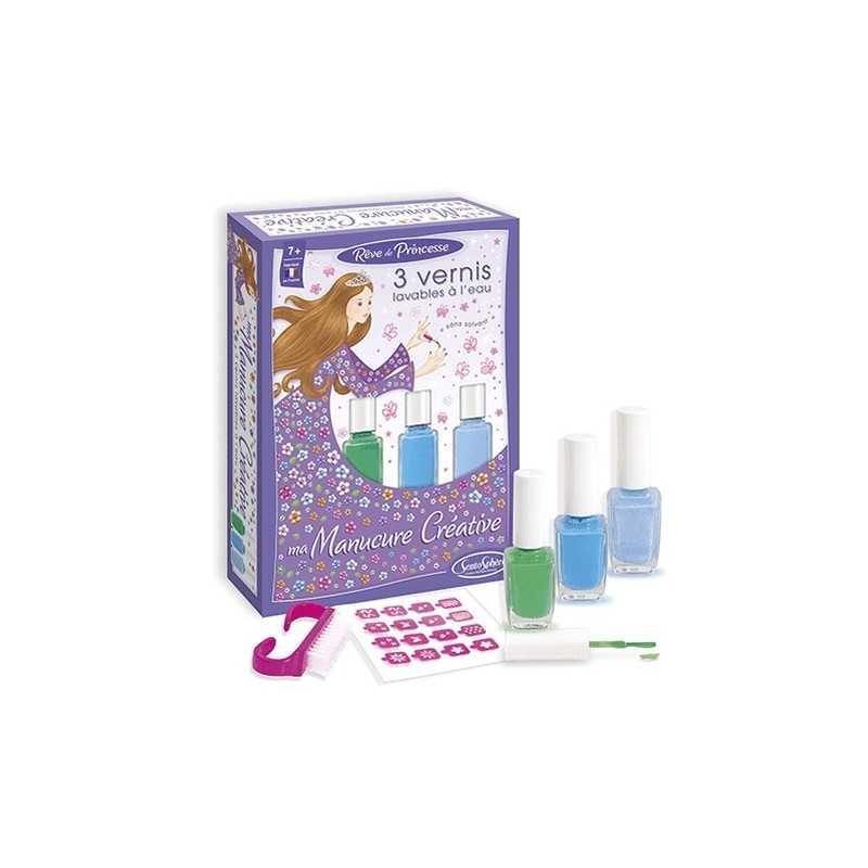 MANICURE CREATIVA kit colori VIOLA SentoSphere laboratorio cosmetico trucchi per bambine da 7 anni