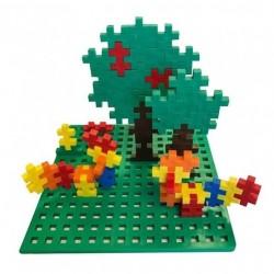BASE PLUSPLUS MINI BASIC 70 pezzi 6 colori baseplate piattaforma costruzioni in plastica modulari