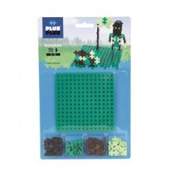 BASE PLUSPLUS MINI BASIC 70 pezzi 6 colori baseplate 3755 piattaforma costruzioni in plastica modulari