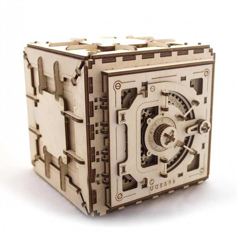 CASSAFORTE UGEARS modellino in legno 3D Puzzle meccanico 179 pezzi